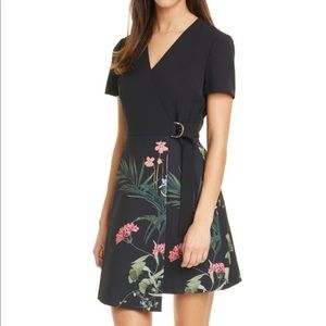 🍀NWT🍀Ted Baker-Mizalia Highland Faux Wrap Dress